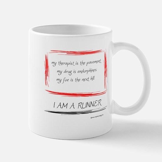 I Am A Runner Slogan #5 Mug