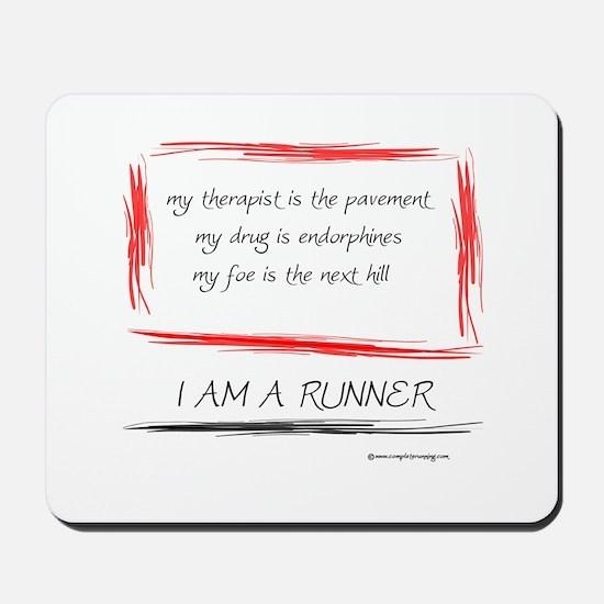 I Am A Runner Slogan #5 Mousepad