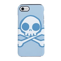 Cute Blue Skull iPhone 7 Tough Case