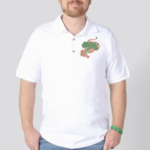 Coral Dragon Golf Shirt