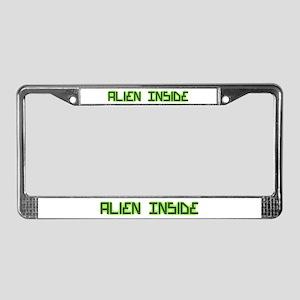 Alien Inside License Plate Frame