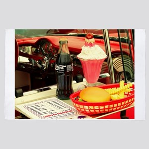 vintage rockabilly burger fries cola sundae  4' x