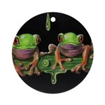Baby Tree Frogs Ornament (Round)