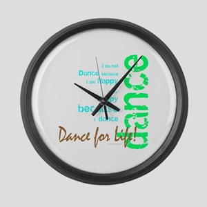 Dance for Life 1 Large Wall Clock