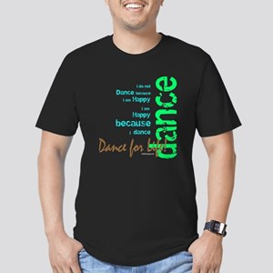 Dance for Life 1 Men's Fitted T-Shirt (dark)