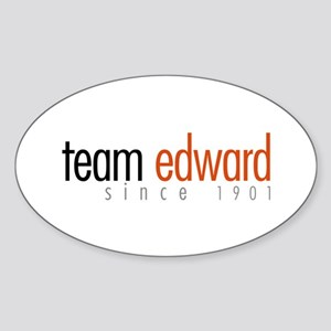 Team Edward: Since 1901 Oval Sticker