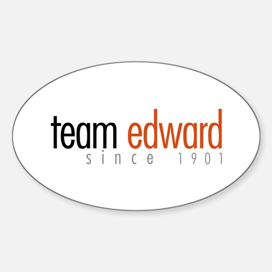 Team Edward: Since 1901 Oval Decal