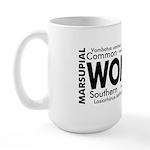 Wombat Words Large Mug