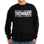 Wombat Words Sweatshirt (dark)