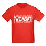 Wombat Words Kids Dark T-Shirt