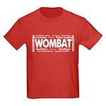 Wombat Words Kids Dark T-Shirt