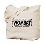 Wombat Words Tote Bag