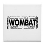 Wombat Words Tile Coaster