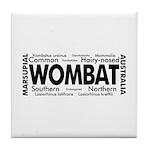 Wombat Words Tile Coaster