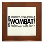 Wombat Words Framed Tile