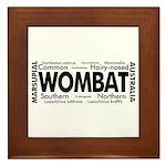 Wombat Words Framed Tile