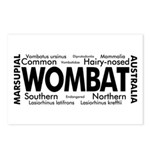 Wombat Words Postcards (Package of 8)