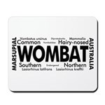Wombat Words Mousepad