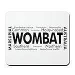 Wombat Words Mousepad