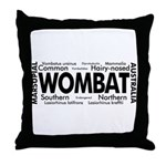 Wombat Words Throw Pillow