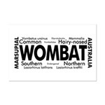 Wombat Words Mini Poster Print