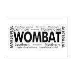 Wombat Words Mini Poster Print