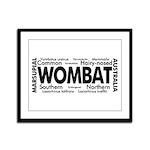Wombat Words Framed Panel Print