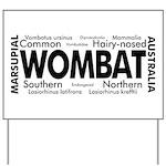 Wombat Words Yard Sign