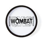 Wombat Words Wall Clock