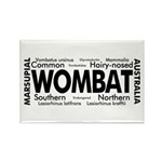 Wombat Words Rectangle Magnet