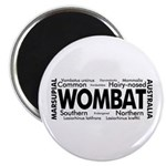 Wombat Words Magnet