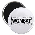 Wombat Words Magnet