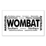 Wombat Words Rectangle Sticker