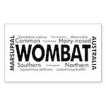 Wombat Words Rectangle Sticker