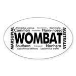 Wombat Words Oval Sticker
