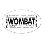 Wombat Words Oval Sticker