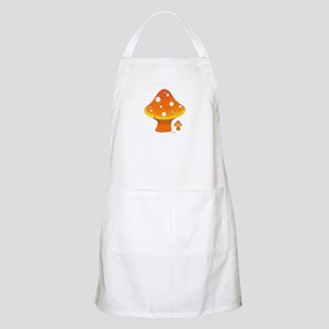 Orange Mushrooms BBQ Apron