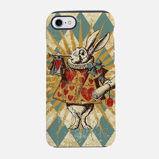 Alice White Rabbit Vintage iPhone 7 Tough Case