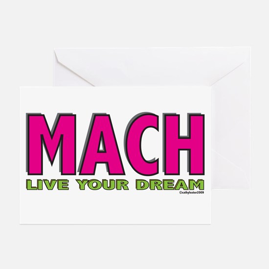 MACH live your dream Greeting Cards (Pk of 10)