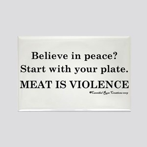 Peaceful Eating Rectangle Magnet