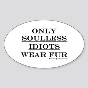 Anti-Fur Oval Sticker