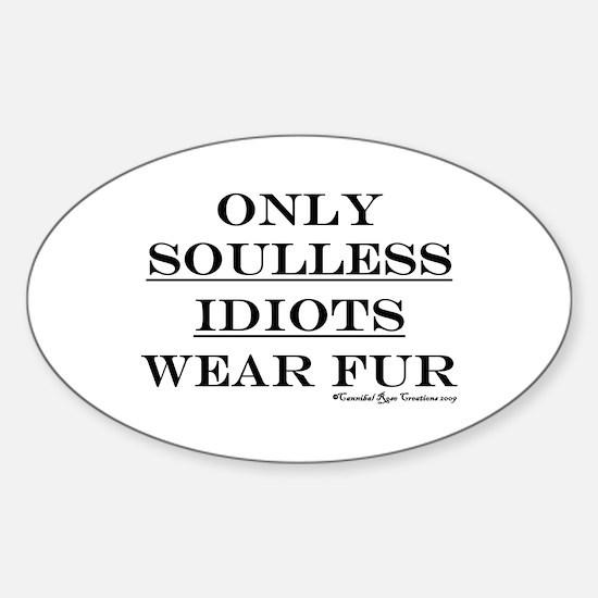 Anti-Fur Oval Decal