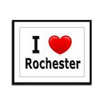 I Love Rochester Framed Panel Print