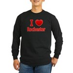 I Love Rochester Long Sleeve Dark T-Shirt