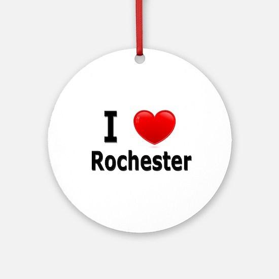 I Love Rochester Ornament (Round)