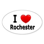 I Love Rochester Oval Sticker (10 pk)