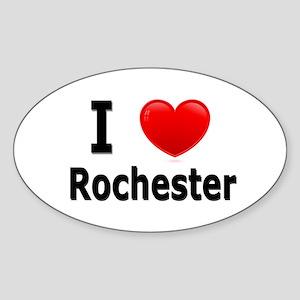 I Love Rochester Oval Sticker