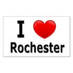 I Love Rochester Rectangle Sticker