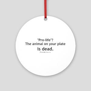 Eat Pro-Life Ornament (Round)