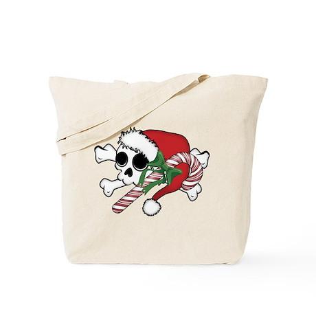 Cute Santa Skull Tote Bag